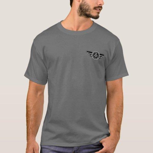 Dark grey T_shirt wblack  white MCR logo