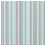 [ Thumbnail: Dark Grey & Turquoise Colored Stripes Fabric ]