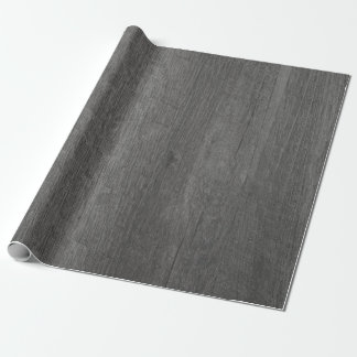 Dark Grey Wood Grain Wrapping Paper