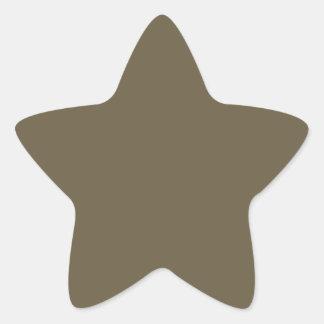 Dark Greyed Camo Army Green Khaki Color Only Star Sticker