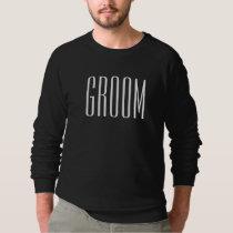 Dark Groom Wedding Engagement Classic Sweatshirt