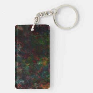 Dark Grunge Art Keychain