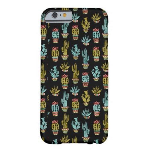 Dark Grunge Cactus Pattern Phone Case