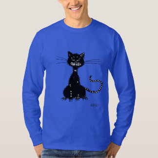 Dark Grunge Evil Black Cat Male Long-Sleeved T-Shirt