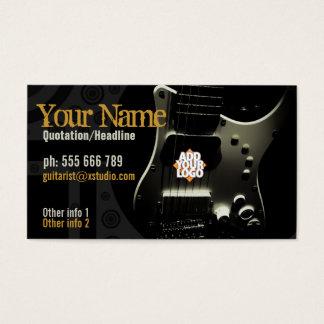Dark Grunge Guitar w/ Logo Business card
