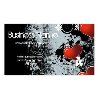 Dark Grunge Love Heart Design Business Card 2