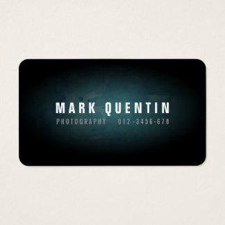 Dark Grunge Photography Business Card