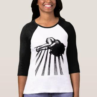 Dark, Grungy, Graphic Tattoo Illustration in Ink T-Shirt