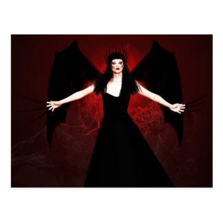 Dark Guardian Of My Oblivion Gothic Postcard