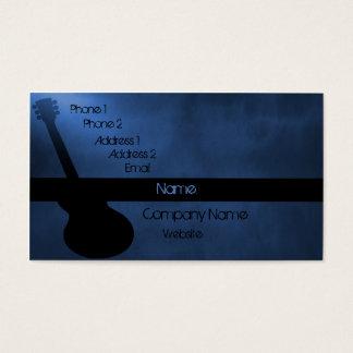 Dark Guitar Business Card, Blue Business Card