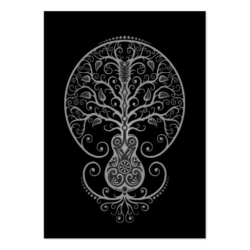 Dark Guitar Tree of Life Large Business Cards (Pack Of 100)
