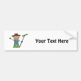 Dark Guy Farmer Bumper Sticker