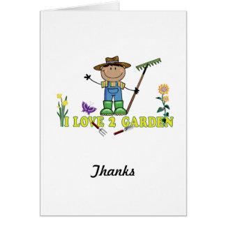 Dark Guy Farmer I Love 2 Garden Card