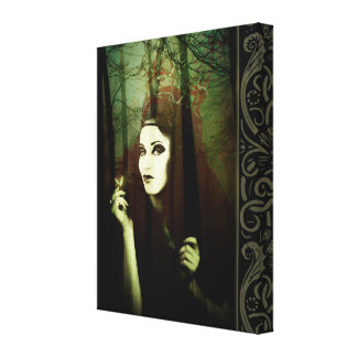 Dark Gypsy Witch Forest Butterfly Canvas Print