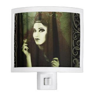 Dark Gypsy Witch Forest Butterfly Night Light