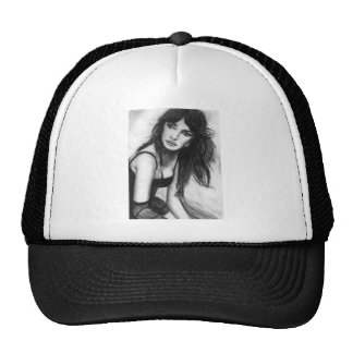 Dark Haired Beauty Trucker Hat