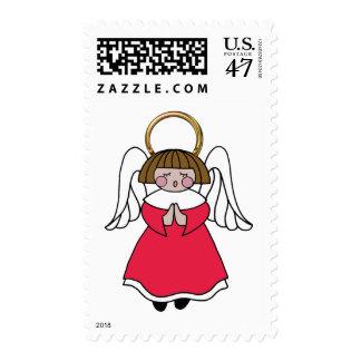 Dark Haired Girl Angel Postage