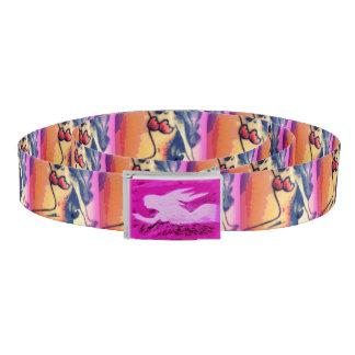dark-haired mermaid beauty pink belt