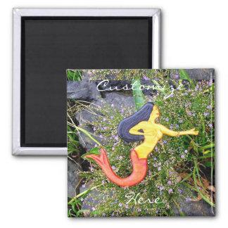 dark-haired sirena red-tail mermaid magnet