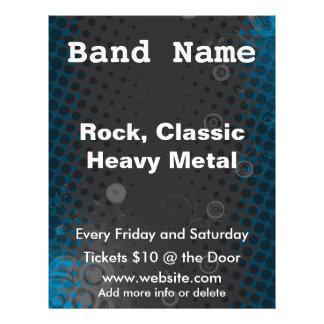 Dark Halftone Music Concert Flyer