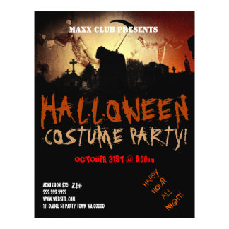 Dark Halloween Party Event Announcement Flyer
