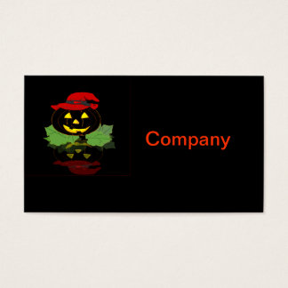 Dark Halloween Pumpkin Business Card