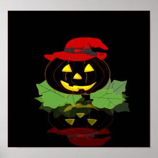 Dark Halloween Pumpkin Posters