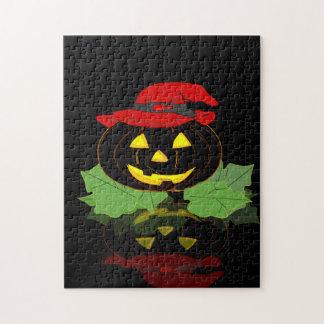 Dark Halloween Pumpkin Puzzle