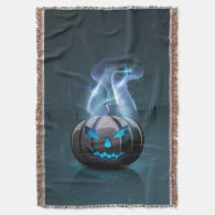 Dark Halloween Woven Throw Blanket