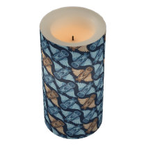 Dark hand-drawn abstract Owl pattern Flameless Candle