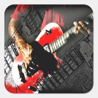 Dark hands guitar layered red image stickers
