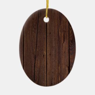 Dark hardwood imitation ceramic ornament