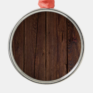 Dark hardwood imitation metal ornament