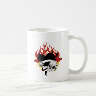 Dark Heart Black and Red Tattoo Design Coffee Mug