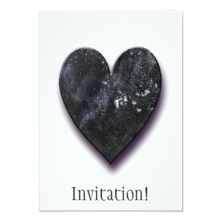 "Dark Heart 5"" X 7"" Invitation Card"