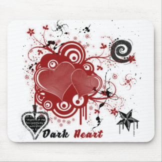 Dark Heart Mouse Pad