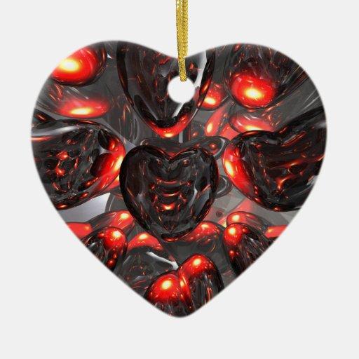 Dark Hearts Abstract Ornament