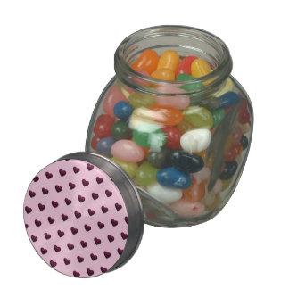 Dark Hearts Candy Jar Glass Jars