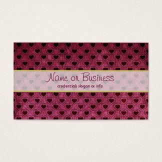 Dark Hearts Grunge Pattern Business Card