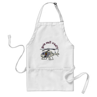 Dark Helicopter Pilot Girl Adult Apron