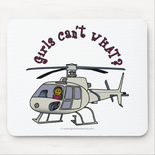 Dark Helicopter Pilot Mousepad