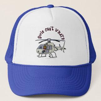 Dark Helicopter Pilot Trucker Hat
