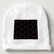 Dark hexagon baby beanie