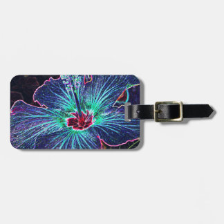 Dark Hibiscus Bag Tag