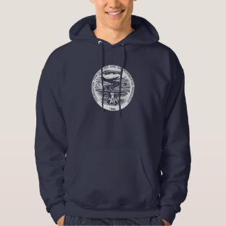 Dark Hoodie with white JIRP logo