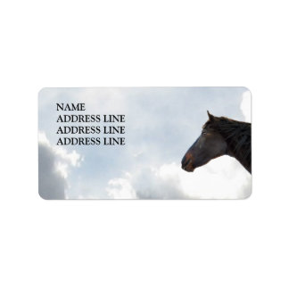 Dark Horse and Sky 2 - Western Return Address Label