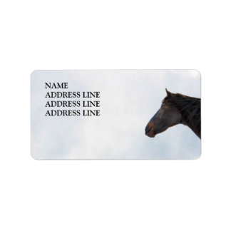 Dark Horse and Sky - Western Return Address Label