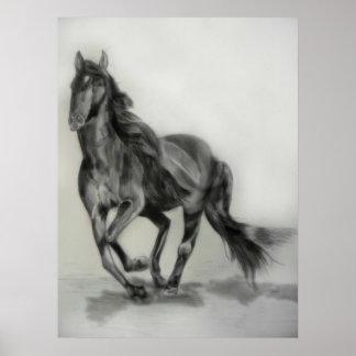 dark horse drawing poster