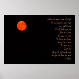 Dark hours of night poster