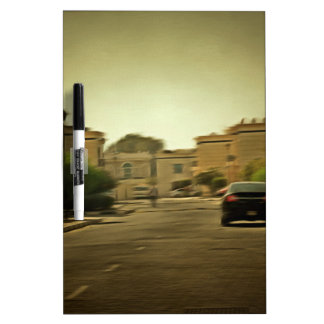 Dark hues in a residential neighborhood with vill dry erase whiteboards